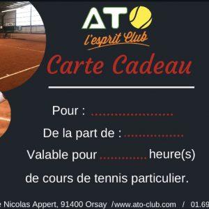 Carte cadeau cours de tennis particulier