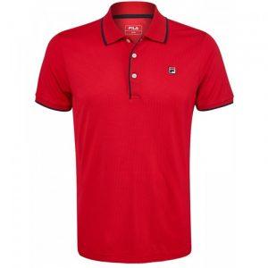 polo-tennis-fila-parker-rouge
