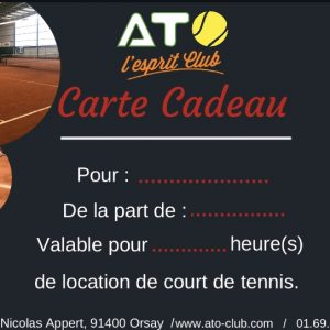 Carte cadeau location de court de tennis