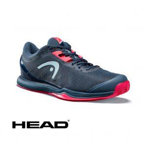 HEAD SPRINT PRO 3.0 CLAY MIDNIGHT NAVY/NEON RED